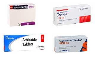 Калийсберегающие диуретики: список препаратов