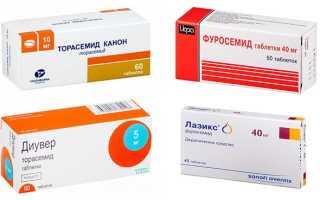 Петлевые диуретики: список препаратов, механизм действия