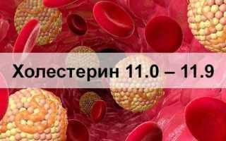 Холестерин 11 – 11,9 что это значит, что делать, нужно ли пить статины